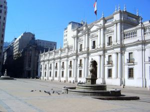Palác La Moneda v Santiagu