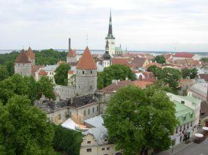 Centrum Talinnu v Estonsku